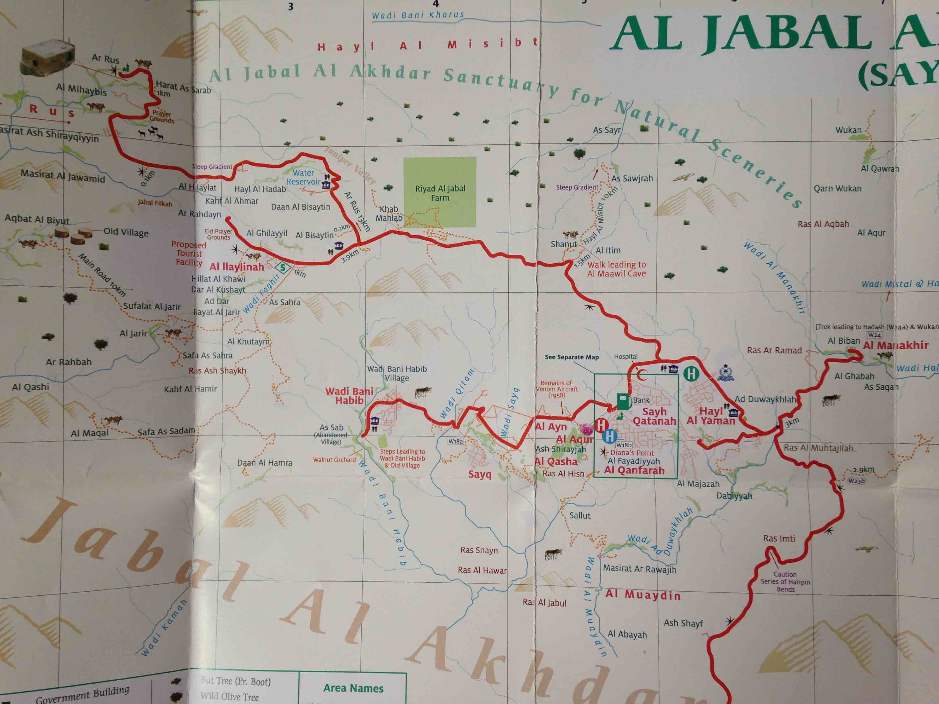 carte Djebel Akhdar 2