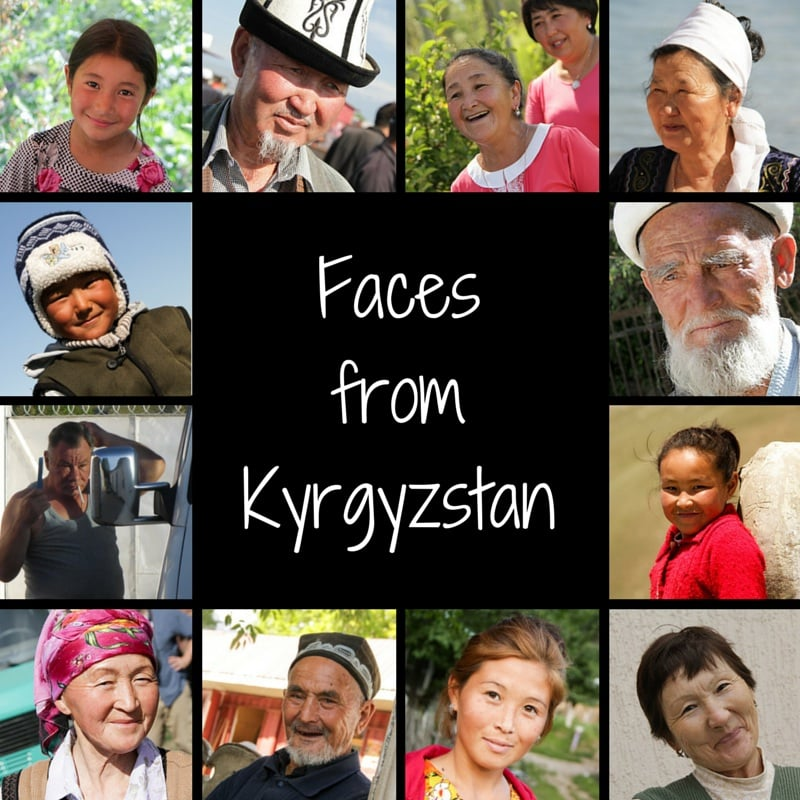 Portraits of Kyrgyz people