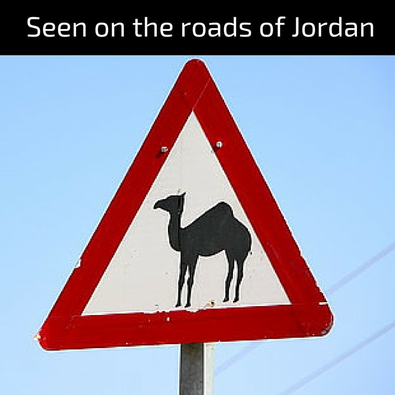 Seen on the roads of Jordan