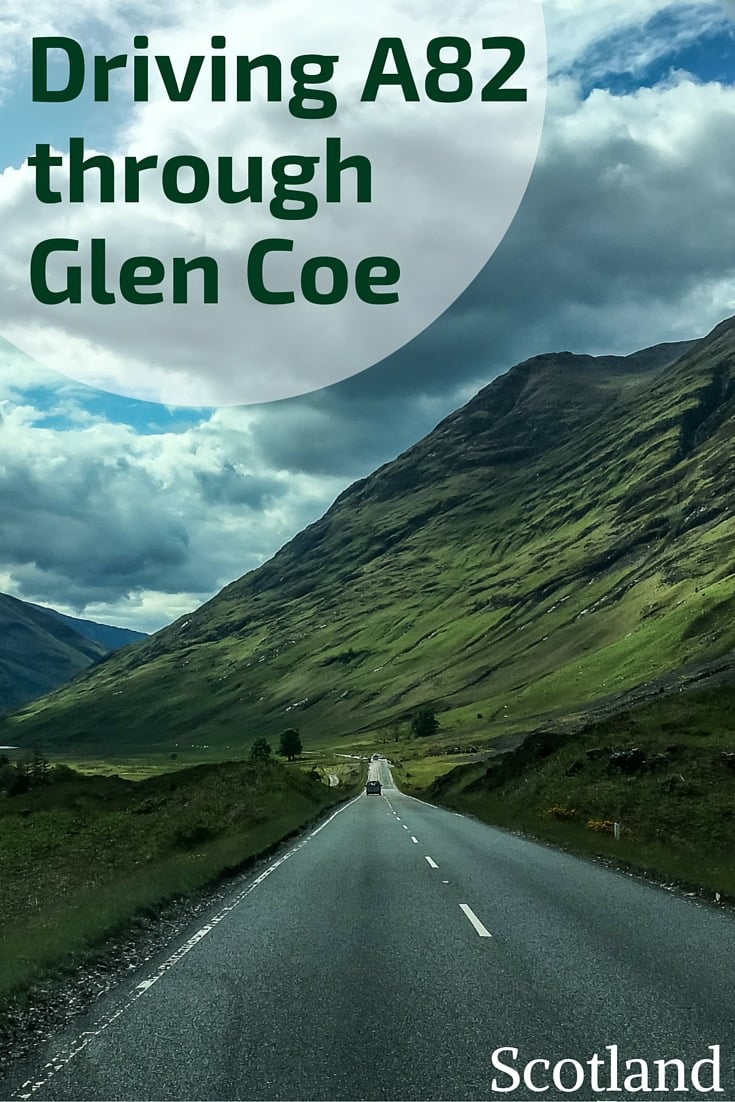 Driving Road A82 in Glen Coe Scotland