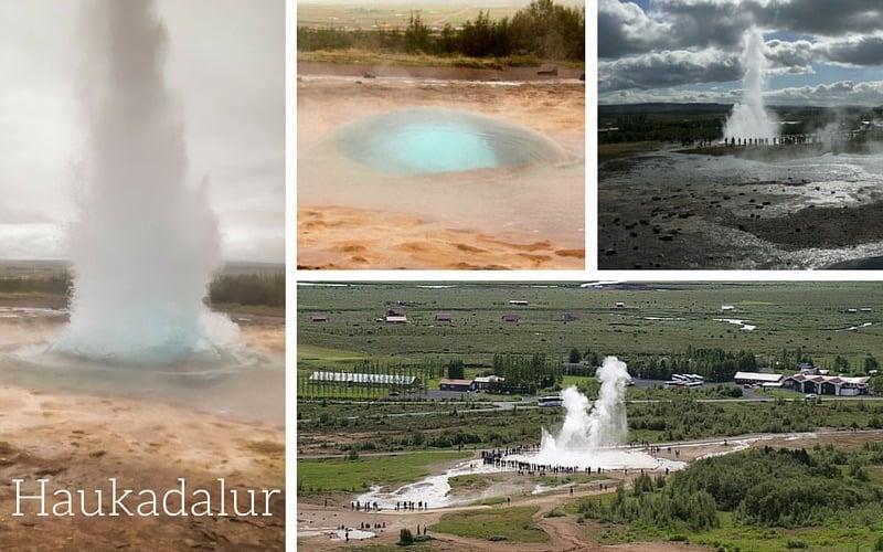 Geysir Haukadalur Golden Circle Iceland