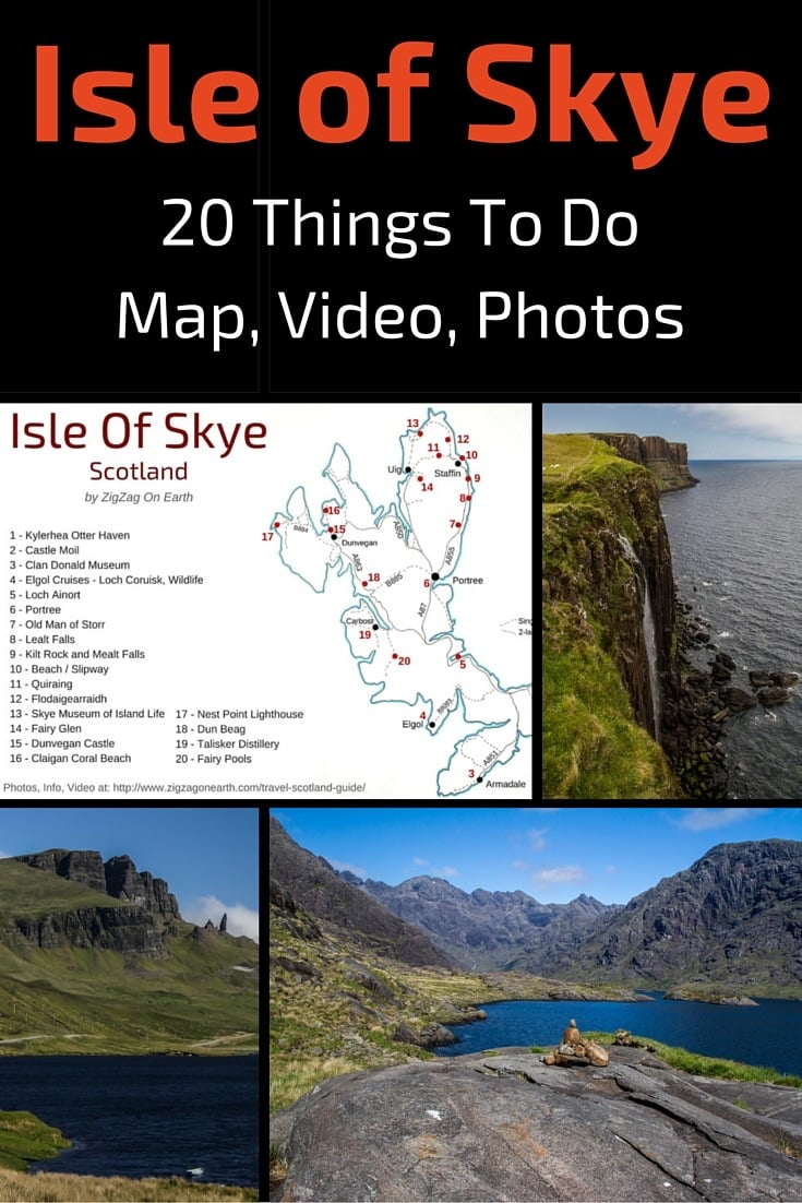 Things to do on Skye island - map, info, video, photos