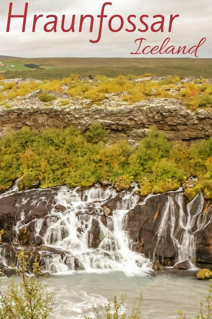 Hraunfossar Waterfall Iceland - Hraunfoss Waterfall