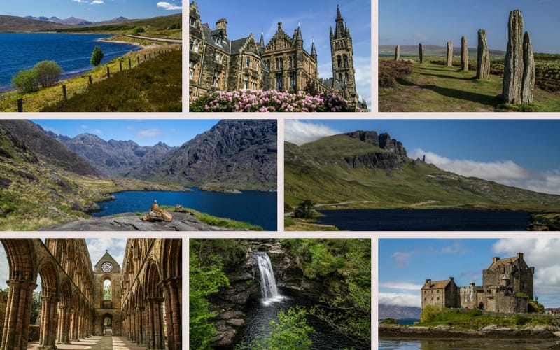 Example pictures road trip Scotland ebook
