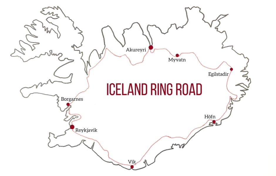 Iceland Ring Road Map Iceland Ring Road (2019 Guide) – Map +Attractions + Itinerary tips