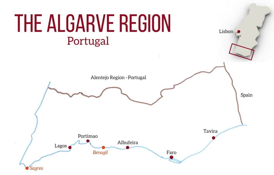 Portugal Algarve Map Algarve destinations