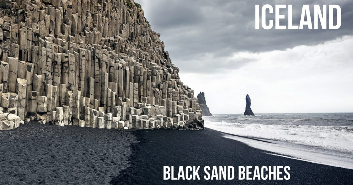 best black sand beaches iceland reynisfjara diamond. Black Bedroom Furniture Sets. Home Design Ideas