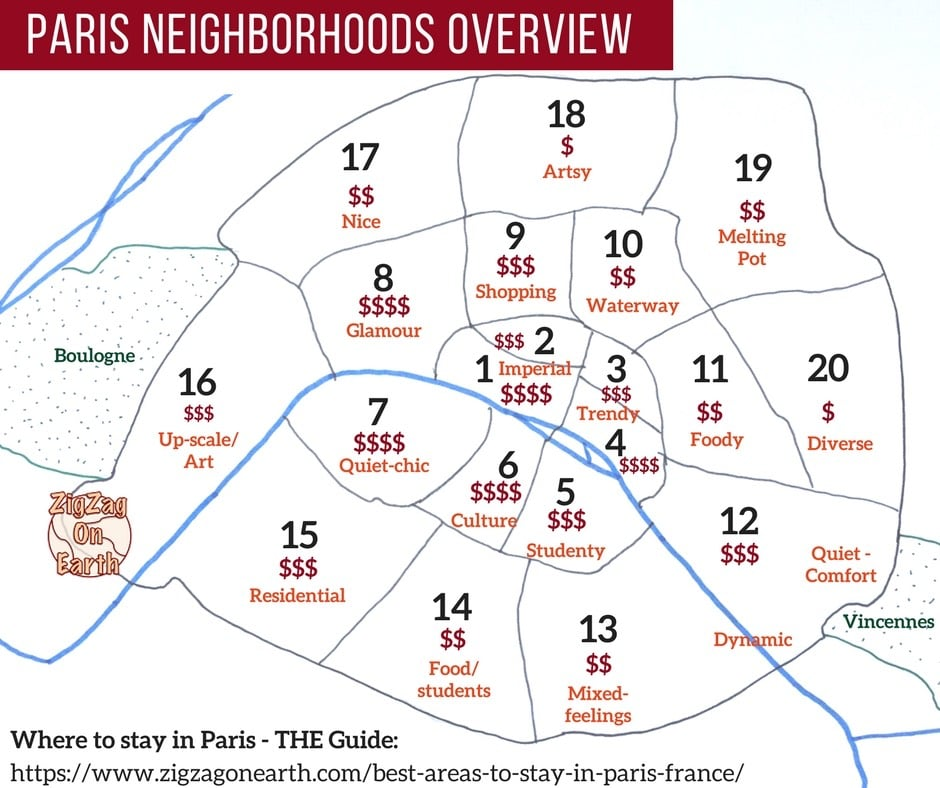 Paris Neighborhood Map Best Areas to Stay in Paris – Maps + Neighborhood Guides to find  Paris Neighborhood Map