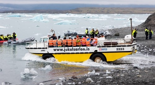 Route 1 Islande attraction - Jokusarlon bateau