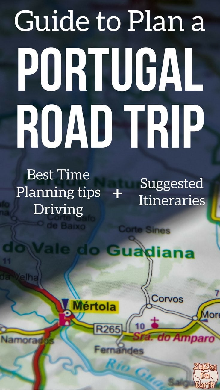 Map Road Trip Portugal Itinerary Map - Roadtrip Portugal Travel