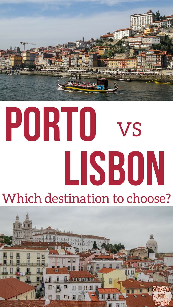 Porto or Lisbon for weekend Portugal