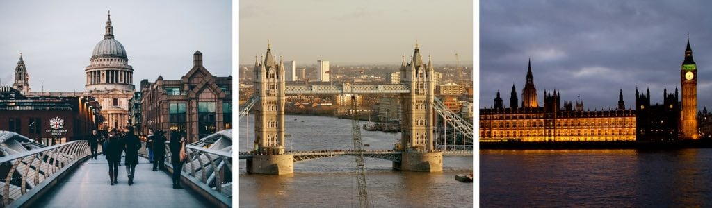 London stop on itinerary Europe travel by train