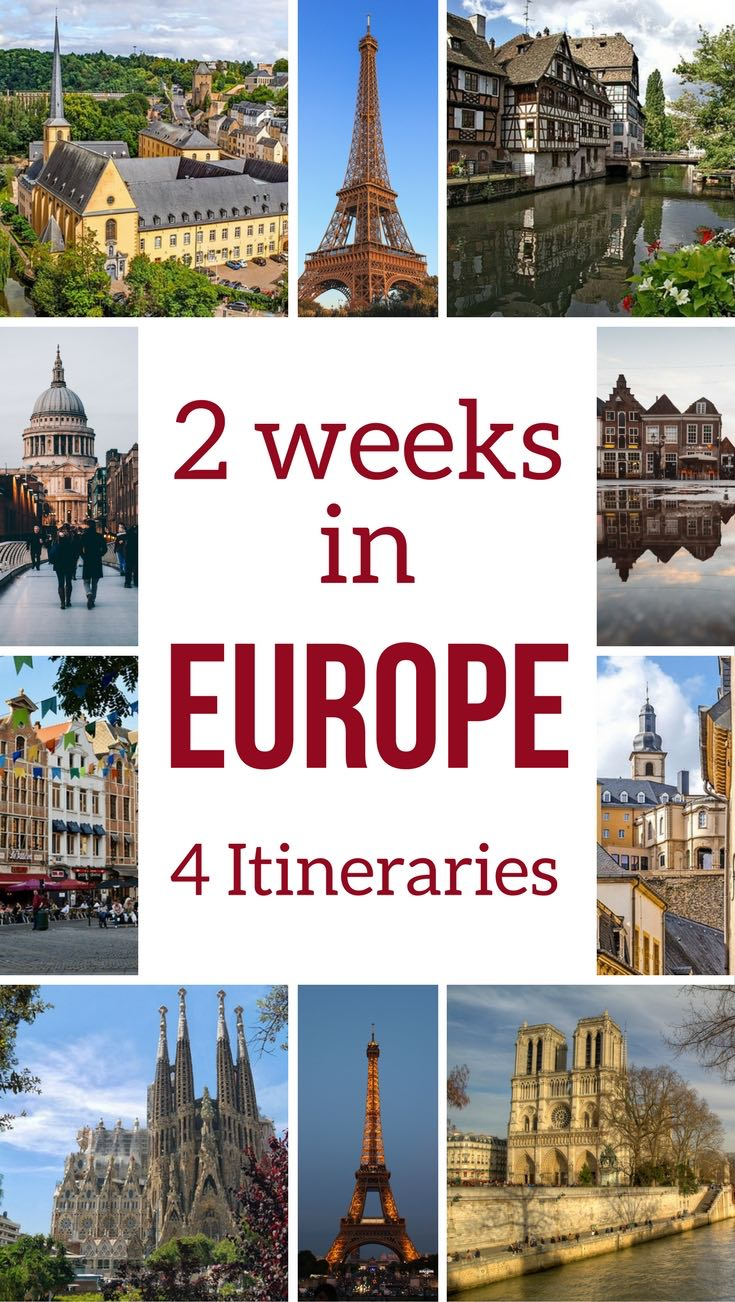 Travel Europe trip itinerary 2 weeks