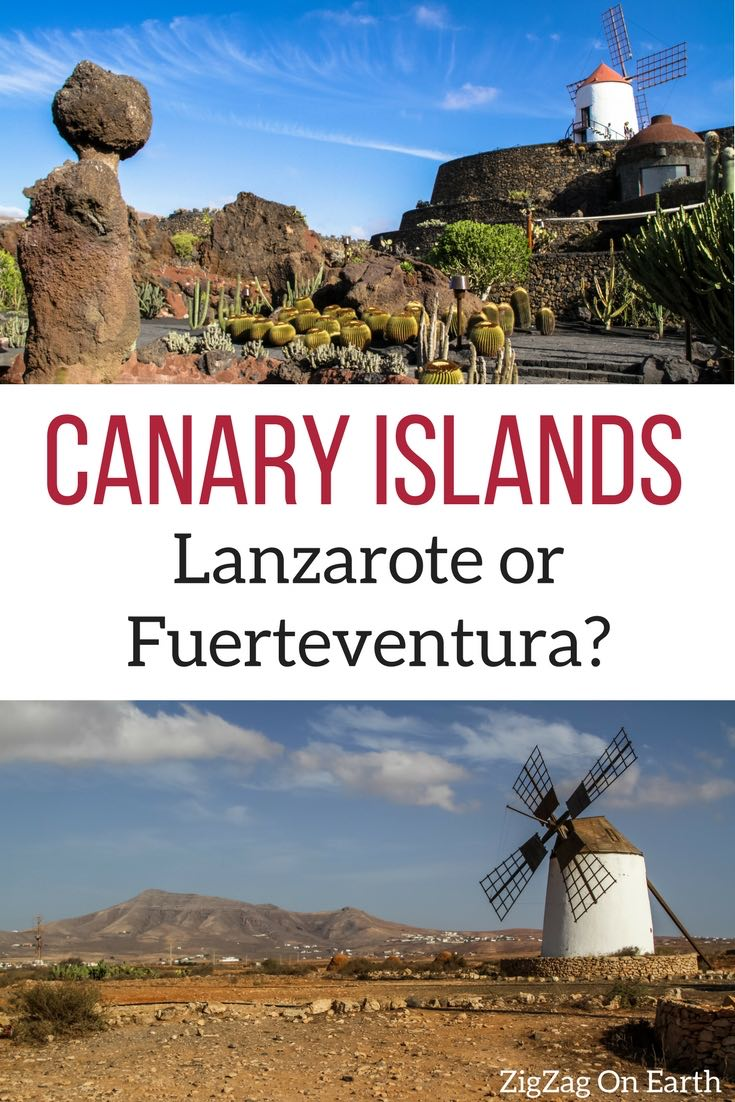 Pin Lanzarote or Fuerteventura canary islands travel guide