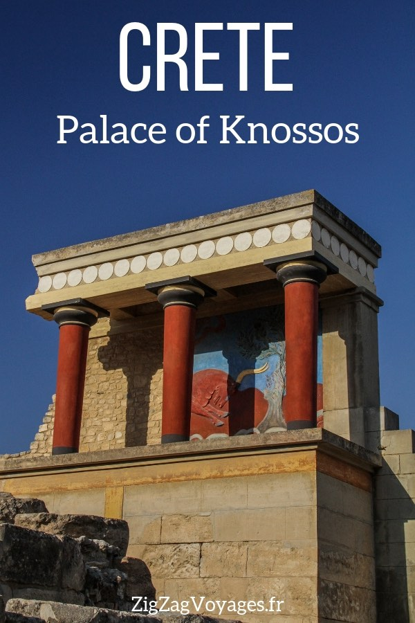 Minoan palace of Knossos Crete Travel Pin