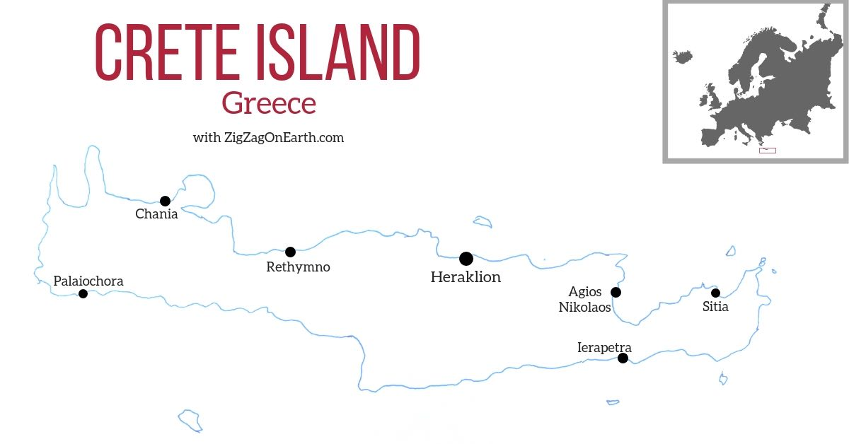 Tourism crete map travel