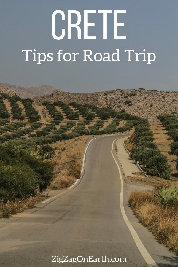 itinerary road trip crete travel