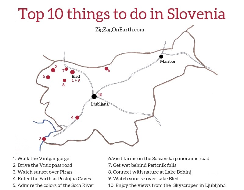 Things to do in Slovenia Map Tourism