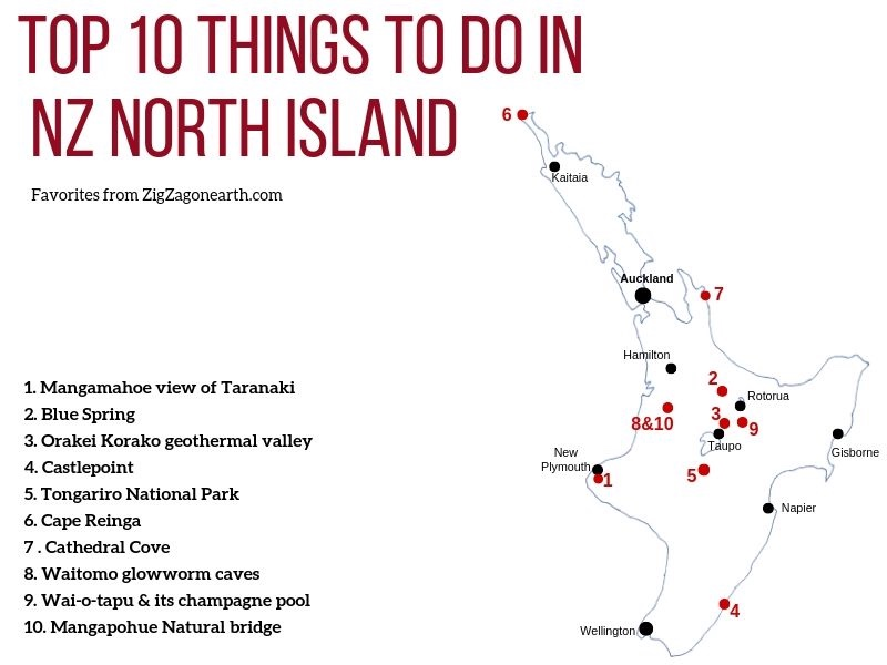 Best things to do in New Zealand North island Map Tourism