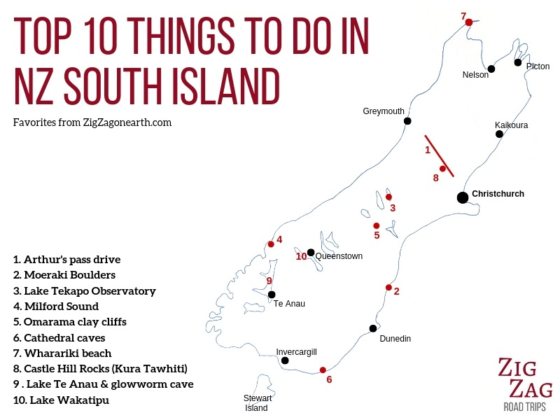 Map New Zealand South Island.25 Best Things To Do In New Zealand South Island With Photos