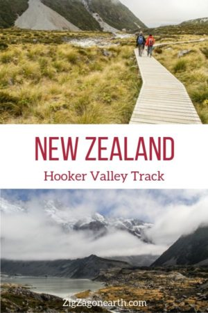 Hooker valley track New Zealand travel Pin2