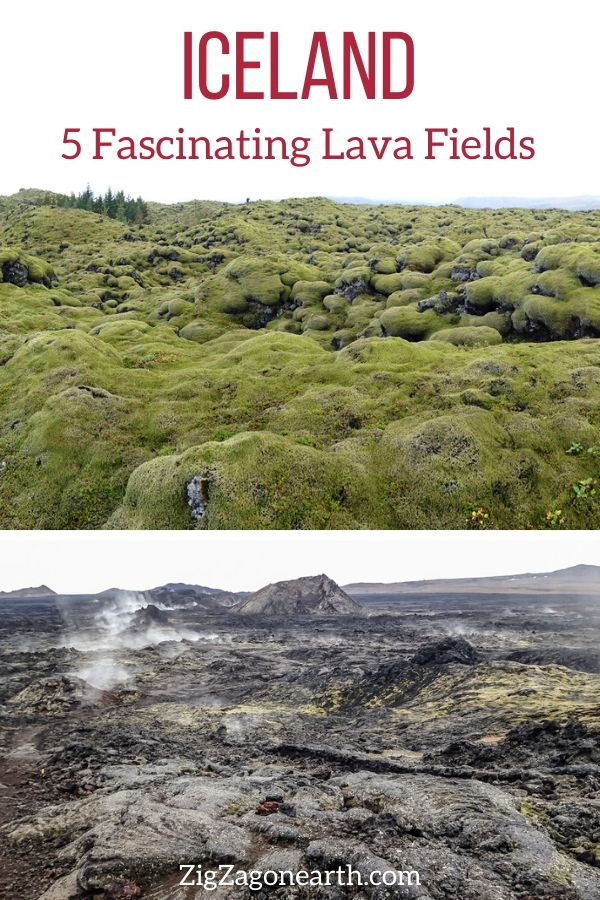 Lava Fields in Iceland Travel Pin3
