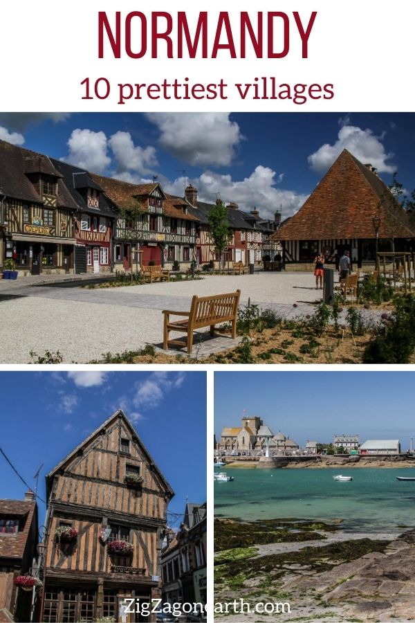 prettiest villages Normandy Travel Pin3